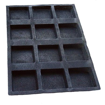 moule silicone fibre de verre carré