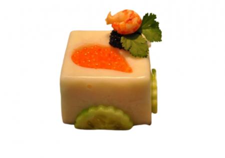 recette salée moule cube avec goutte