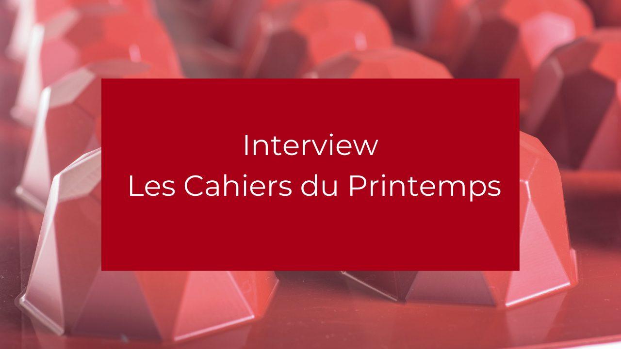 Interview Les Cahiers du Printemps (1)